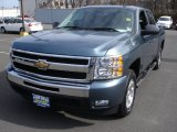 2010 Blue Granite Metallic Chevrolet Silverado 1500 LT Crew Cab #61026659