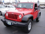 2011 Flame Red Jeep Wrangler Rubicon 4x4 #61026657
