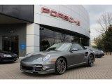 2012 Meteor Grey Metallic Porsche 911 Turbo Cabriolet #61027115