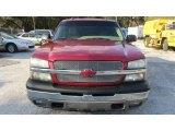 2005 Sport Red Metallic Chevrolet Silverado 1500 LS Crew Cab #61027099