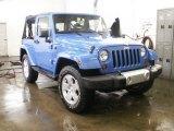 2011 Cosmos Blue Jeep Wrangler Sahara 4x4 #61074912