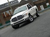 2008 Cool Vanilla White Dodge Ram 1500 Big Horn Edition Quad Cab 4x4 #61075027