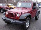 2012 Deep Cherry Red Crystal Pearl Jeep Wrangler Rubicon 4X4 #61074480
