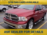 2010 Inferno Red Crystal Pearl Dodge Ram 1500 Big Horn Crew Cab 4x4 #61074947