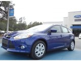 2012 Sonic Blue Metallic Ford Focus SE 5-Door #61112693