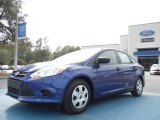 2012 Sonic Blue Metallic Ford Focus S Sedan #61112685