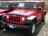 2012 Flame Red Jeep Wrangler Unlimited Sport 4x4 #61112515