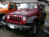 2012 Deep Cherry Red Crystal Pearl Jeep Wrangler Sport 4x4 #61112512