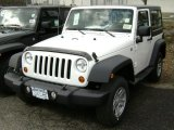 2012 Bright White Jeep Wrangler Sport 4x4 #61112506