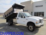 2004 Oxford White Ford F450 Super Duty XL SuperCab 4x4 Chassis Dump Truck #61112492