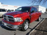 2010 Inferno Red Crystal Pearl Dodge Ram 1500 Big Horn Crew Cab 4x4 #61113538