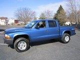 2004 Atlantic Blue Pearl Dodge Dakota SXT Quad Cab 4x4 #61167333
