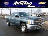 2012 Blue Granite Metallic Chevrolet Silverado 1500 LT Crew Cab 4x4 #61113413