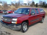 2004 Sport Red Metallic Chevrolet Silverado 1500 LT Extended Cab 4x4 #61112796