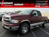 2003 Dark Garnet Red Pearl Dodge Ram 1500 SLT Quad Cab #61112744