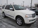 White Suede Metallic Lincoln Navigator in 2008