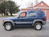 2002 Patriot Blue Pearlcoat Jeep Liberty Sport 4x4 #61113330