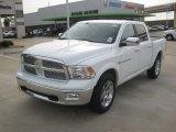 2012 Bright White Dodge Ram 1500 Laramie Crew Cab 4x4 #61074873