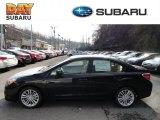 2012 Obsidian Black Pearl Subaru Impreza 2.0i Premium 4 Door #61074601