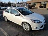 2012 White Platinum Tricoat Metallic Ford Focus Titanium Sedan #61167075