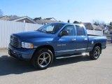 2004 Atlantic Blue Pearl Dodge Ram 1500 Laramie Quad Cab 4x4 #61242310