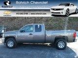 2012 Mocha Steel Metallic Chevrolet Silverado 1500 LS Extended Cab 4x4 #61242290