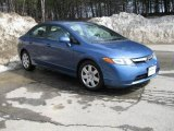 2007 Atomic Blue Metallic Honda Civic LX Sedan #6101925