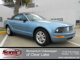 2007 Windveil Blue Metallic Ford Mustang V6 Premium Convertible #61242247