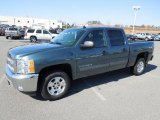 2012 Blue Granite Metallic Chevrolet Silverado 1500 LT Crew Cab 4x4 #61242154