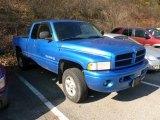 2001 Intense Blue Pearl Dodge Ram 1500 Sport Club Cab 4x4 #61241596