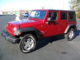 2012 Flame Red Jeep Wrangler Unlimited Sport S 4x4 #61242134