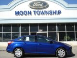 2012 Sonic Blue Metallic Ford Focus SE Sedan #61241828