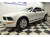 2007 Performance White Ford Mustang V6 Deluxe Coupe #61288746