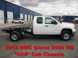 2012 GMC Sierra 2500HD Extended Cab 4x4 Chassis Data, Info and Specs