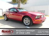 2005 Redfire Metallic Ford Mustang V6 Deluxe Coupe #61288721