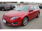 2010 Red Candy Metallic Ford Fusion SE #61288641