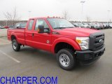 2012 Vermillion Red Ford F350 Super Duty XL SuperCab 4x4 #61288091