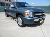 2009 Blue Granite Metallic Chevrolet Silverado 1500 LT Crew Cab #61288357