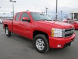 2009 Victory Red Chevrolet Silverado 1500 LTZ Extended Cab 4x4 #61345210