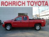 2008 Victory Red Chevrolet Silverado 1500 LT Extended Cab 4x4 #61345812