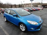 2012 Blue Candy Metallic Ford Focus SE Sport 5-Door #61344590