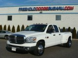 2008 Bright White Dodge Ram 3500 Big Horn Edition Quad Cab Dually #61345794