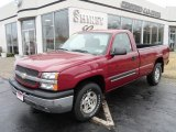 2004 Sport Red Metallic Chevrolet Silverado 1500 Regular Cab 4x4 #61344458