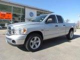 2008 Bright Silver Metallic Dodge Ram 1500 Lone Star Edition Quad Cab #61345009