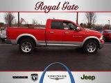 2012 Flame Red Dodge Ram 1500 Laramie Quad Cab 4x4 #61345618