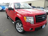 2010 Vermillion Red Ford F150 STX SuperCab 4x4 #61344837