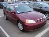 2002 Radiant Ruby Red Pearl Honda Civic EX Sedan #61344064