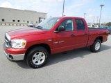 2007 Inferno Red Crystal Pearl Dodge Ram 1500 SLT Quad Cab #61345412