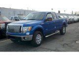 2012 Blue Flame Metallic Ford F150 XLT SuperCab 4x4 #61344750