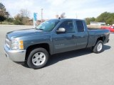 2012 Blue Granite Metallic Chevrolet Silverado 1500 LT Extended Cab 4x4 #61345340